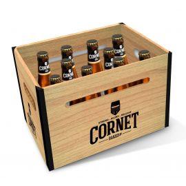Cornet houten krat 10x33cl