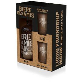 Bière Des Amis geschenk 1x66cl + 2 glazen