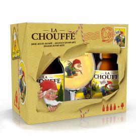 La Chouffe geschenk 4x33cl + glas