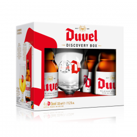 Duvel Discovery Pack geschenk 4x33cl + glas