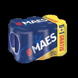 Maes (5+1 gratis) blik 6 x 33cl