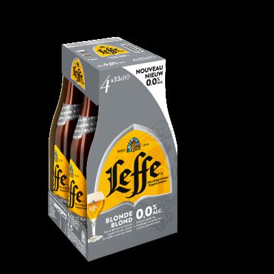Leffe Blond 0,0% clip 4 x 33cl