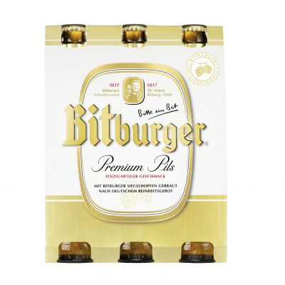 Bitburger Pils clip 6 x 33cl