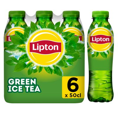 Lipton Ice Tea Green Original (Reduced sugar) clip 6 x 50cl