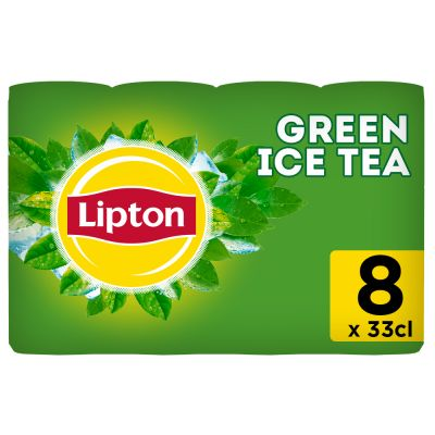 Lipton Ice Tea Green Original (Reduced sugar) clip 8 x 33cl