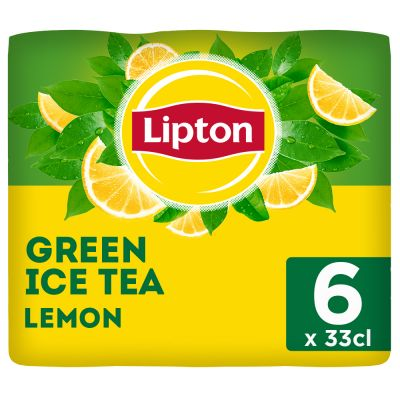 Lipton Ice Tea Green Lemon (Reduced sugar) blik 6 x 33cl
