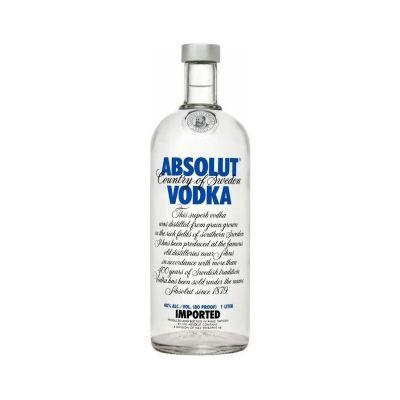 Absolut vodka Blue fles 1l