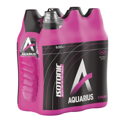 Aquarius Isotonic Cherry clip 6 x 50cl