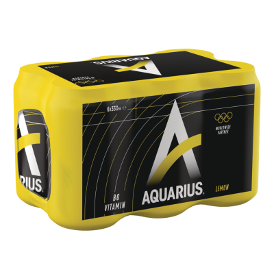 Aquarius Lemon blik 6 x 33cl