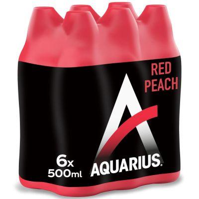 Aquarius Red Peach clip 6 x 50cl