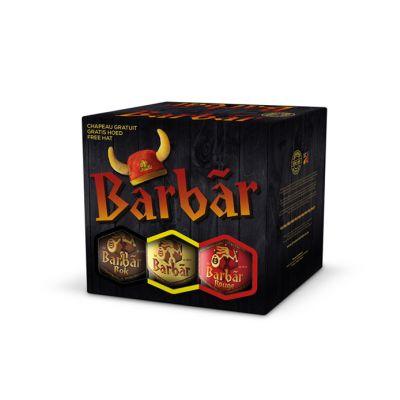 Barbãr Bierbox mix karton 6x33cl+hoed