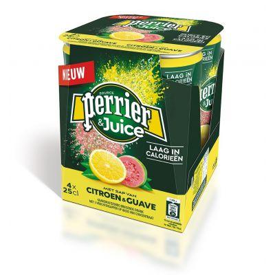 Perrier & Juice Citroen-Guave blik 4 x 25cl