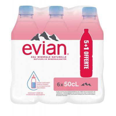 Evian (5+1) clip 6 x 50cl
