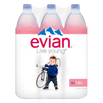 Evian rpet 6 x 1,5l