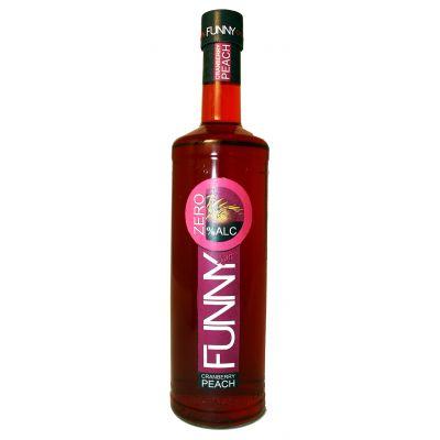 Funny 0% Cranberry Peach fles 70cl