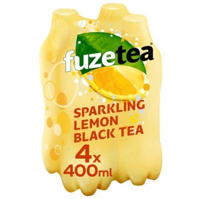 Fuze Tea Sparkling Lemon Black Tea clip 4 x 40cl