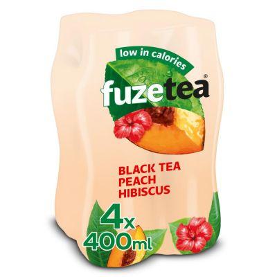 Fuze Tea Black Tea Peach Hibiscus clip 4 x 40cl