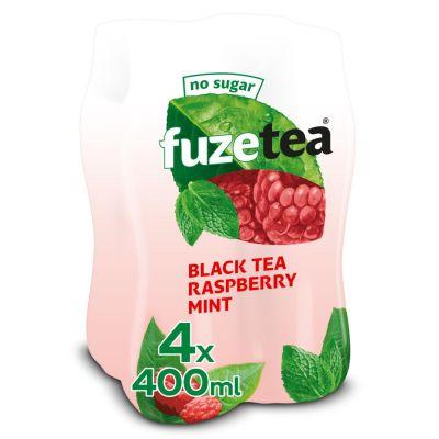 Fuze Tea Black Tea Raspberry Mint (No sugar) clip 4 x 40cl
