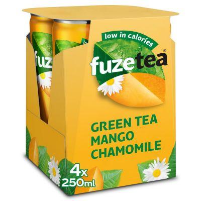 Fuze Tea Green Tea Mango Chamomile blik 4 x 25cl