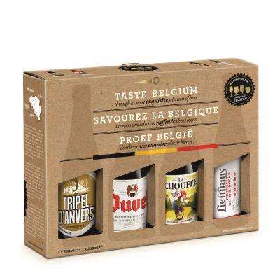 Taste Belgium geschenk 3x33cl + 1x25cl