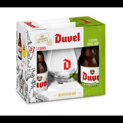Duvel & Duvel Tripel Hop Gift pack geschenk 2x33cl + glas