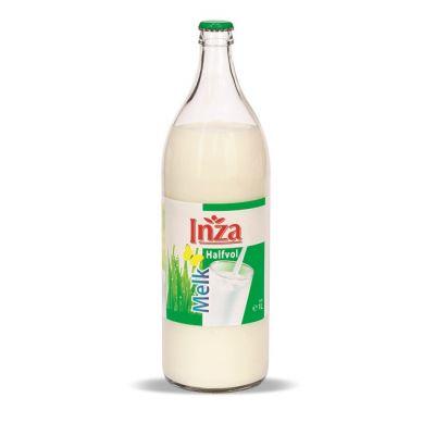 Inza halfvolle melk fles 1l