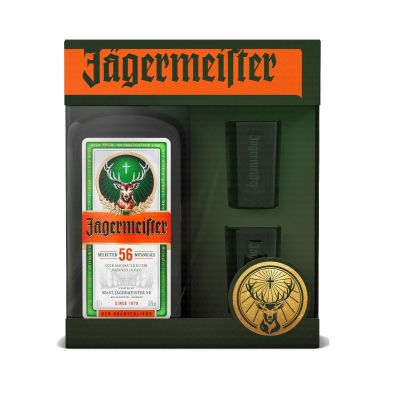 Jägermeister geschenk 70cl + 2 glazen