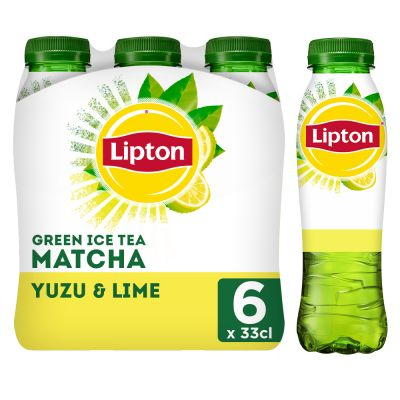 Lipton Ice Tea Green Matcha Yuzu & Lime clip 6 x 33cl