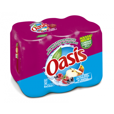Oasis Appel/Cassis/Framboos blik 6 x 33cl
