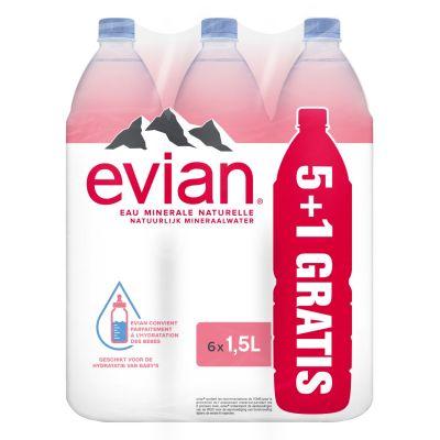 Evian rpet (5+1) 6 x 1,5l