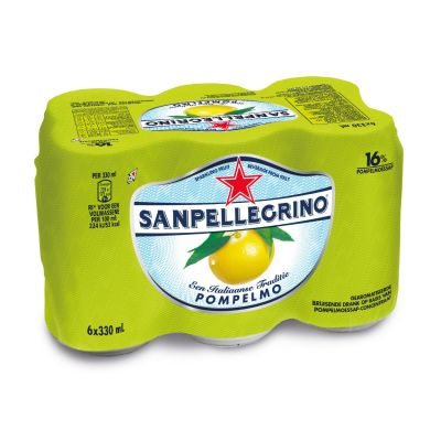 San Pellegrino Pompelmo blik 6 x 33cl