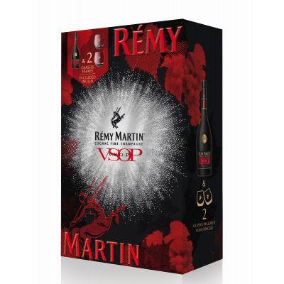 Remy Martin VSOP geschenk 70cl + 2 glazen