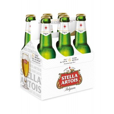 Stella Green Bottle clip 6 x 25cl