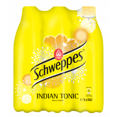 Schweppes Indian Tonic clip 6 x 50cl