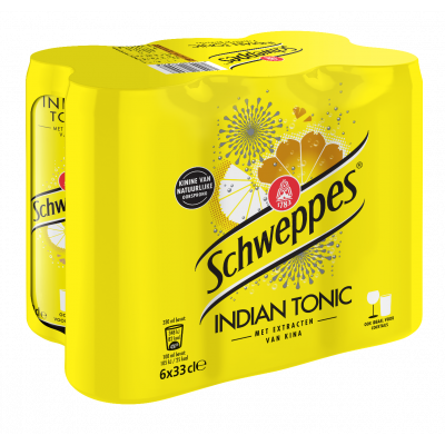 Schweppes Indian Tonic blik 6 x 33cl