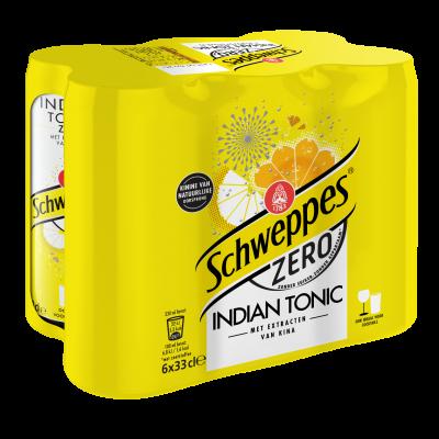 Schweppes Indian Tonic Zero blik 6 x 33cl