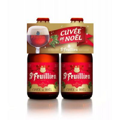 St Feuillien Cuvée de Noël clip 4 x 33cl