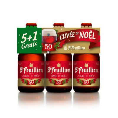 St Feuillien Cuvée de Noël (5+1 gratis) clip 6 x 33cl