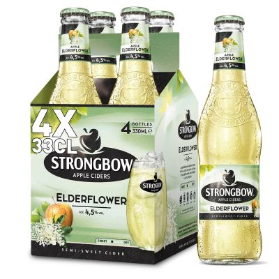 Strongbow Elderflower clip 4 x 33cl