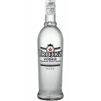 Vodka Trojka Pure Grain fles 70cl