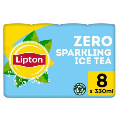 Lipton Ice Tea Zero Sugar blik 8 x 33cl
