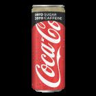 Coca-Cola Zero Cafeinevrij blik 25cl