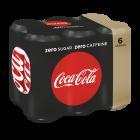 Coca-Cola Zero Cafeinevrij clip 6 x 25cl