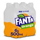 Fanta Zero Orange pet 6 x 50cl