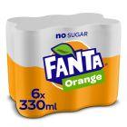 Fanta Zero Orange blik 6 x 33cl