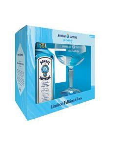 Bombay Sapphire geschenk 70cl + glas