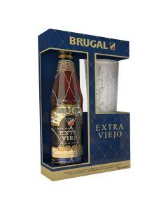 Brugal Extra Viejo geschenk 70cl + glas