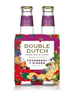 Double Dutch Cranberry & Ginger Tonic Water clip 4 x 20cl