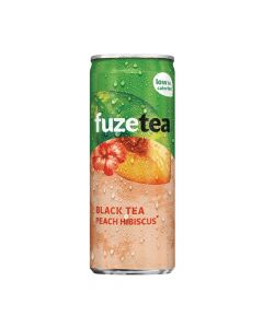 Fuze Tea Black Tea Peach Hibiscuss blik 25cl