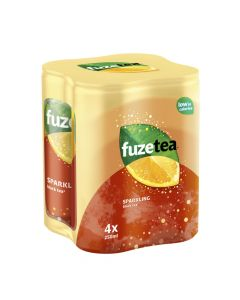 Fuze Tea Sparkling Black Tea blik 4 x 25cl